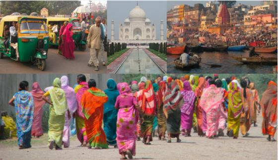 Incredible India. Collage.